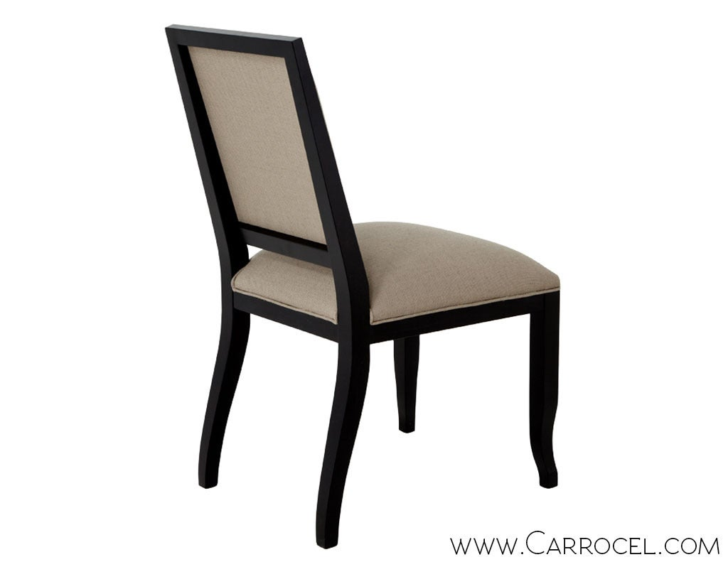modern set of 6 custom contemporary dining side chairs for sale at