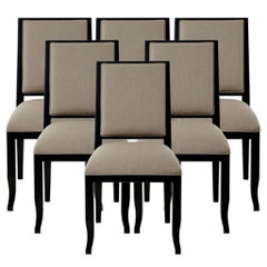 Modern Set of 6 Custom Contemporary Dining Side Chairs