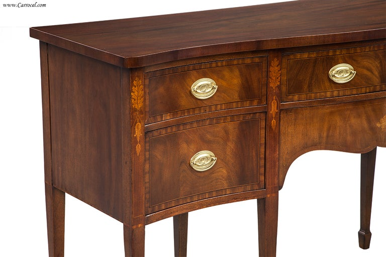 end hepplewhite mahogany federal dining room sideboard buffet image 4