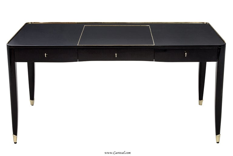 High Gloss Black Lacquer One Fifth Paris Office Writing