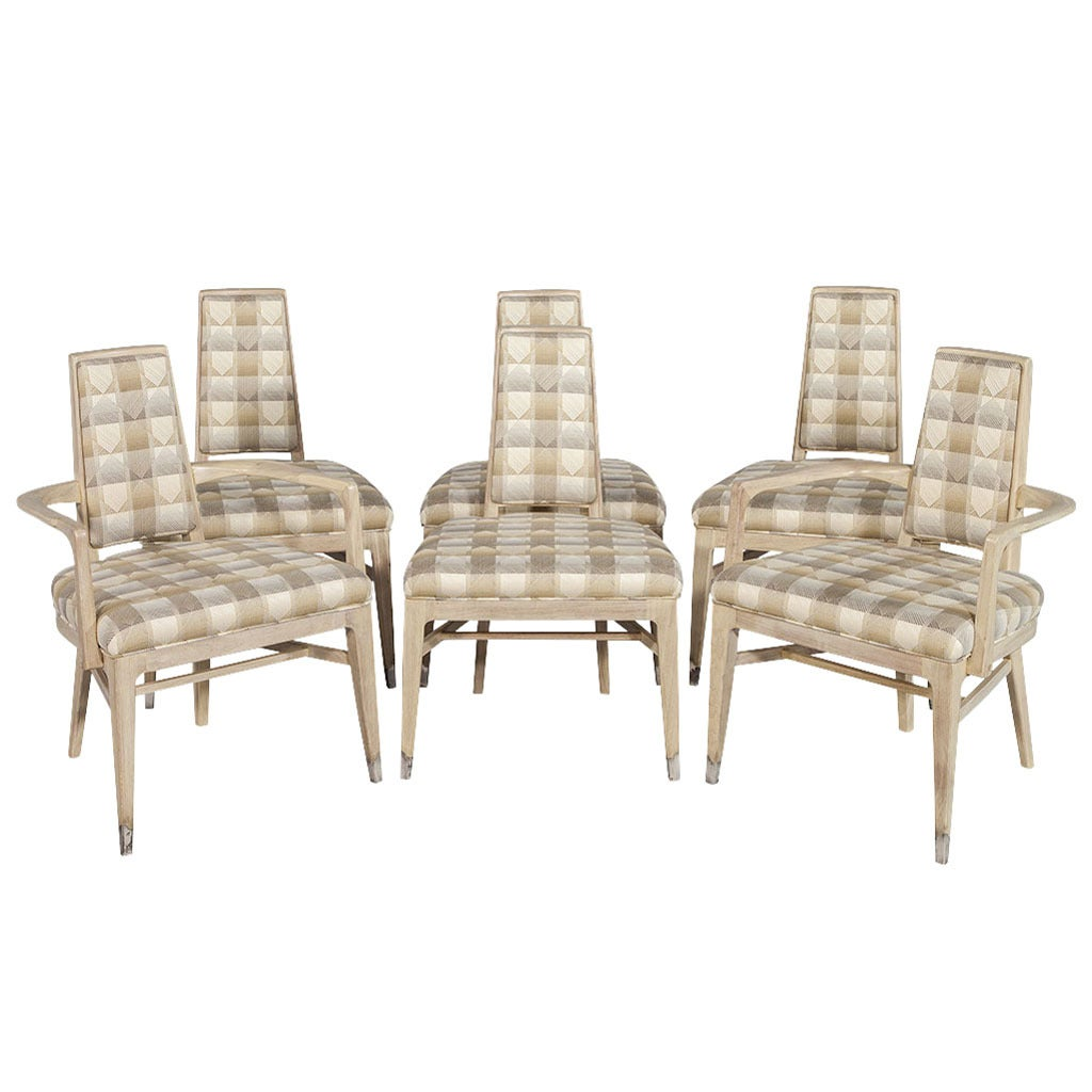 set of six mid century modern dining chairs at 1stdibs