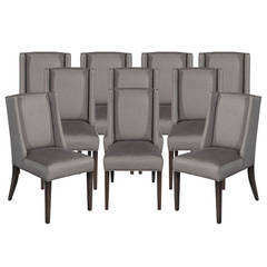 Of 4 italian upholstered parsons living room dining chairs at 1stdibs
