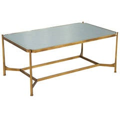 Eglomise Glass Top Coffee Table
