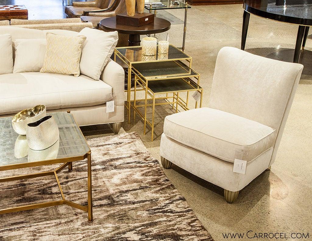 baker furniture barbara barry chair at 1stdibs. Black Bedroom Furniture Sets. Home Design Ideas