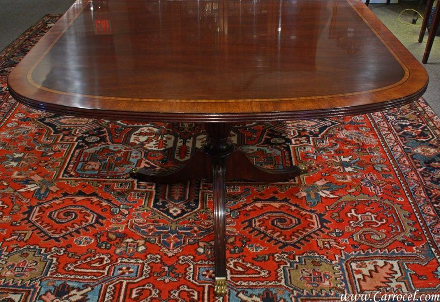 Henkel Harris Mahogany Dining Table With Ribbon Banding 3