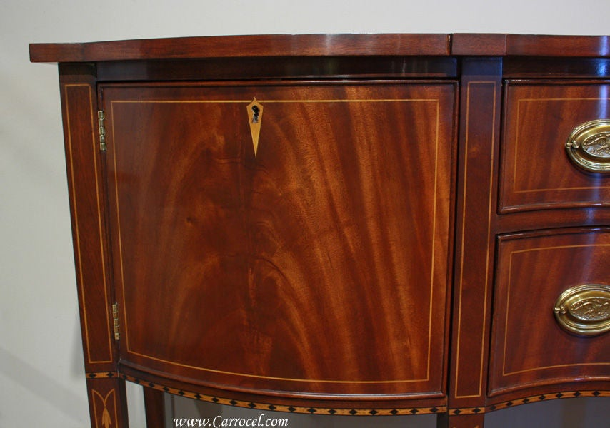 Henkel Harris Mahogany Bow Front Sideboard Buffet At 1stdibs
