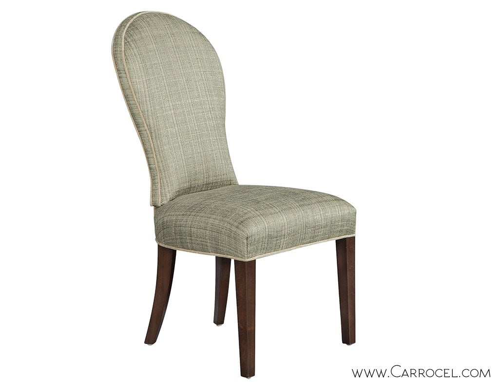 set of eight paula round back dining chairs at 1stdibs