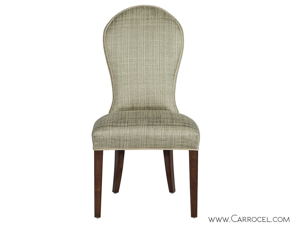 Set of Eight Paula Round Back Dining Chairs For Sale at