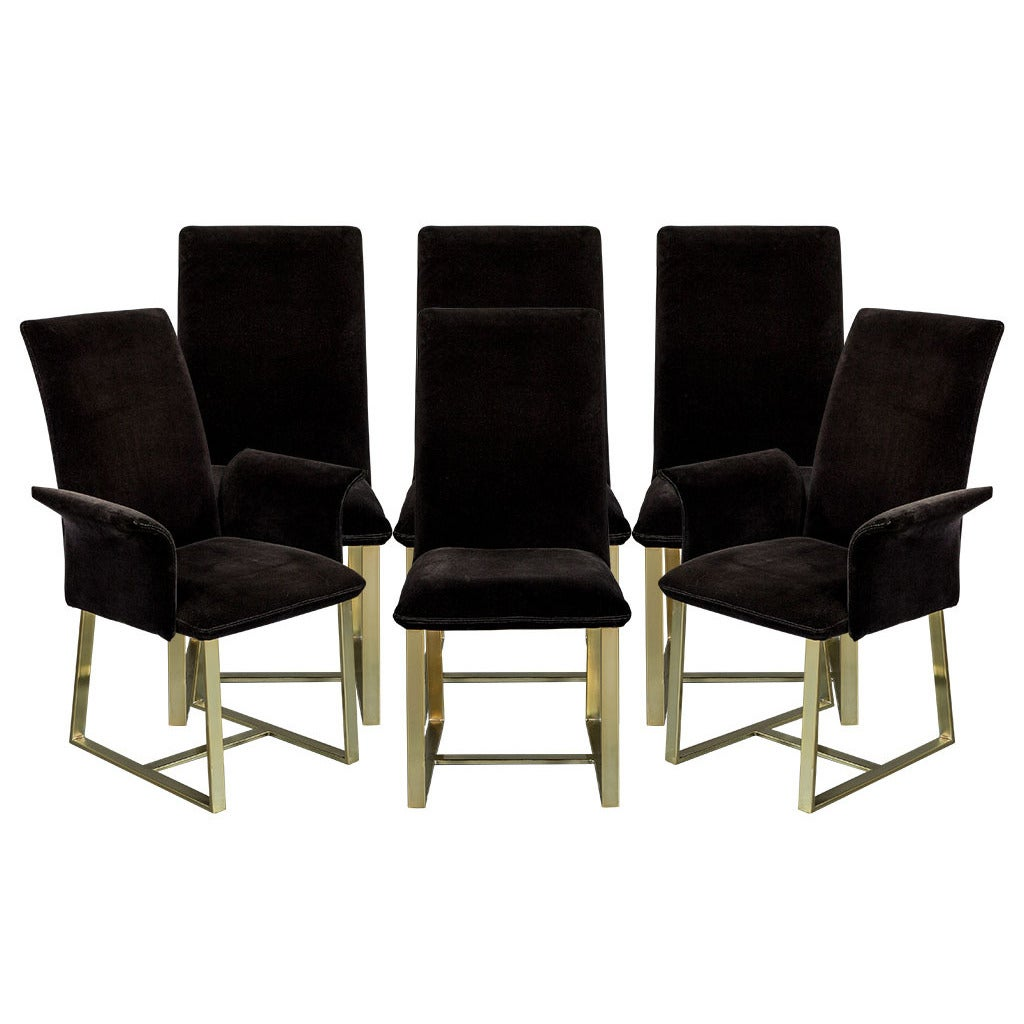 Set of six mid century modern dining chairs for sale at for Modern dining room chairs for sale