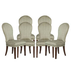 Set of Eight Paula Round-Back Dining Chairs