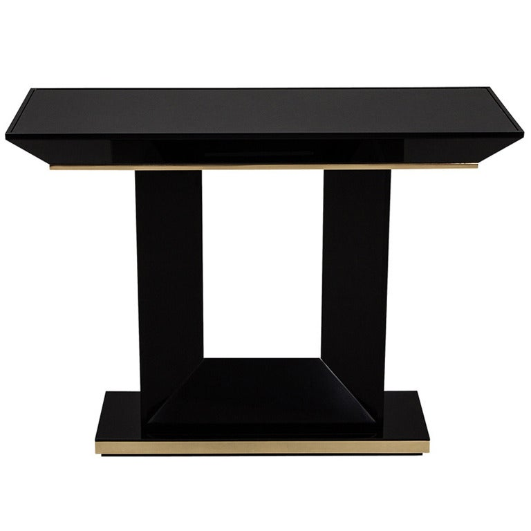 1 Contemporary Black Sofa Table Smileydotus