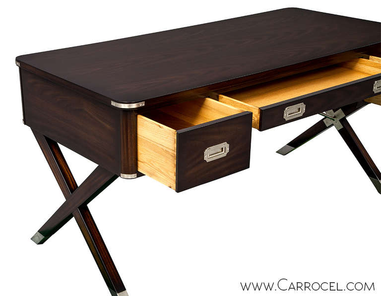 Asheworth Campaign Office Desk By Hickory Chair At 1stdibs