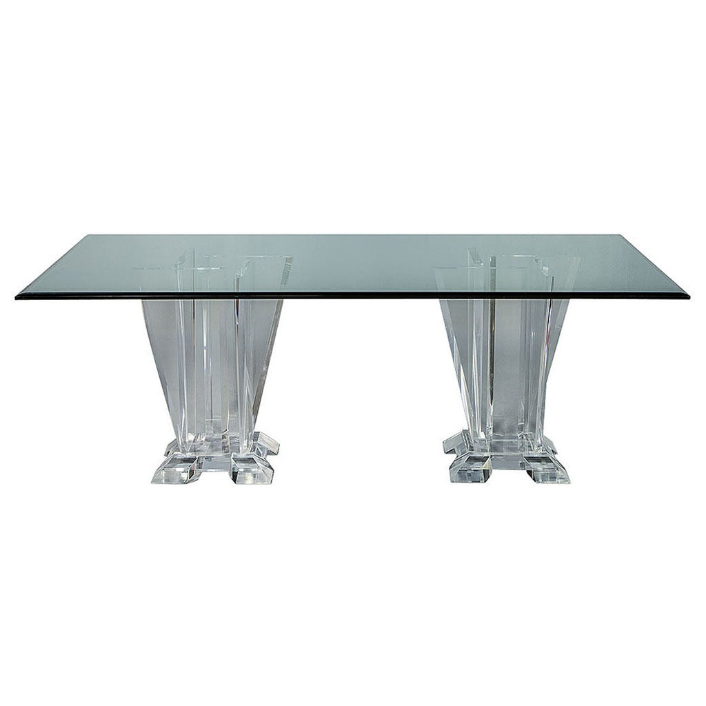 Lucite Dining Room Table: Lucite Pedestal Dining Table At 1stdibs