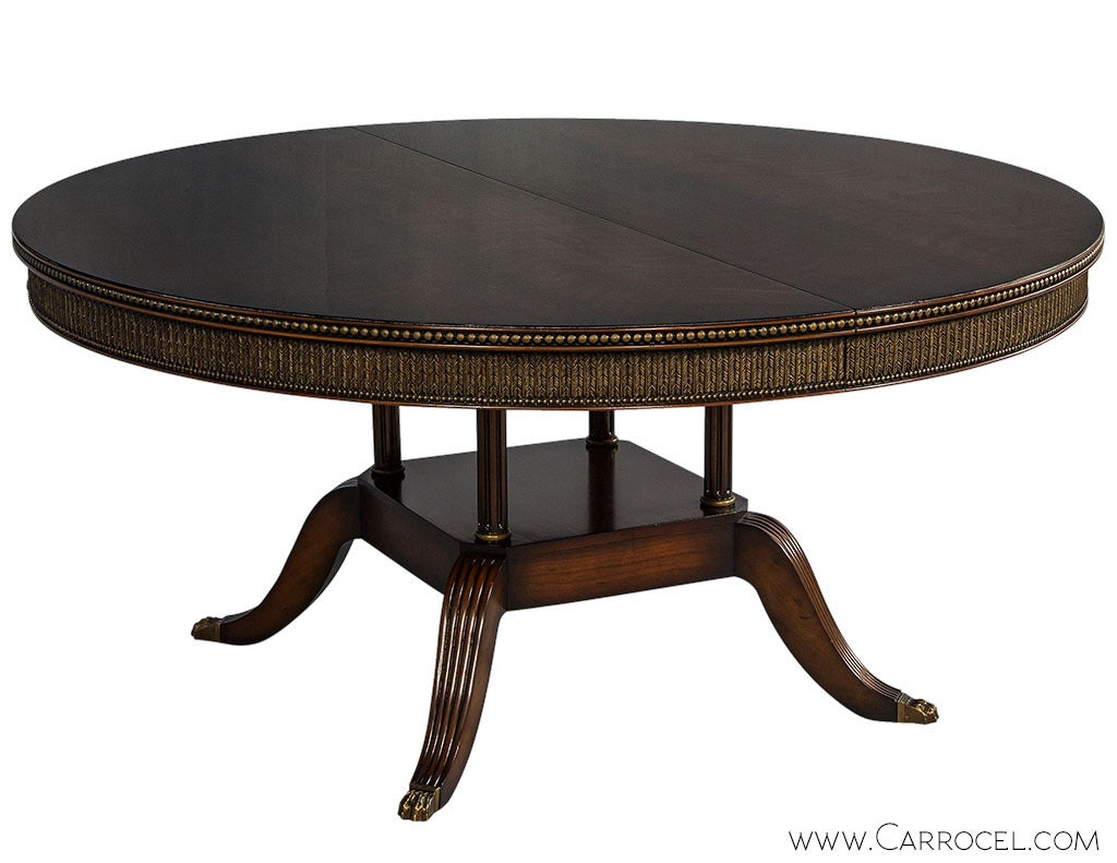 Round dining table for sale at 1stdibs for Round dining room tables for sale