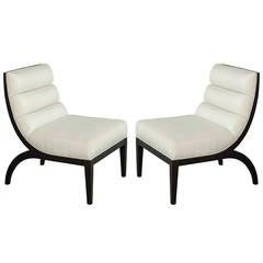 Pair of Custom Slipper Chairs