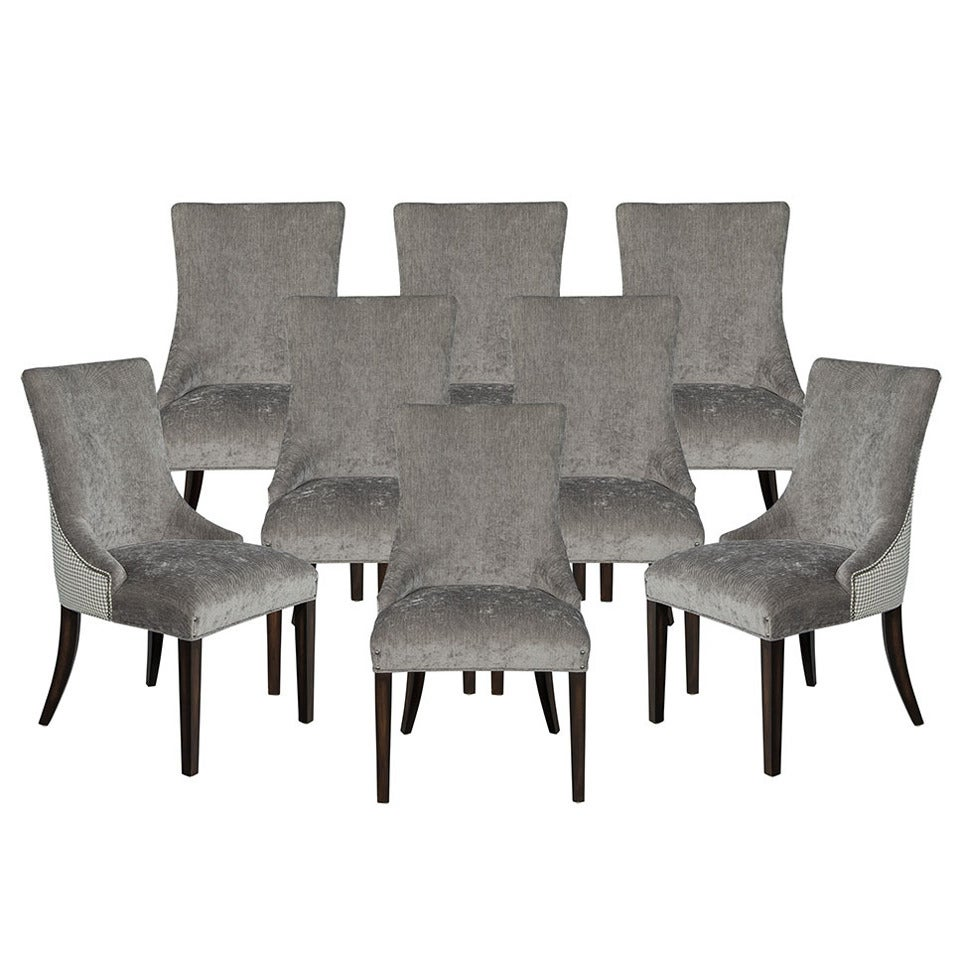 Set of Eight Parsons Side Chairs