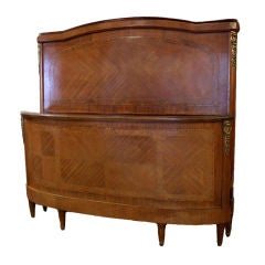 Antique Louis XVI Double Inlaid Headboard and Footboard