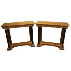 Pair of Antique Empire Style Console Tables