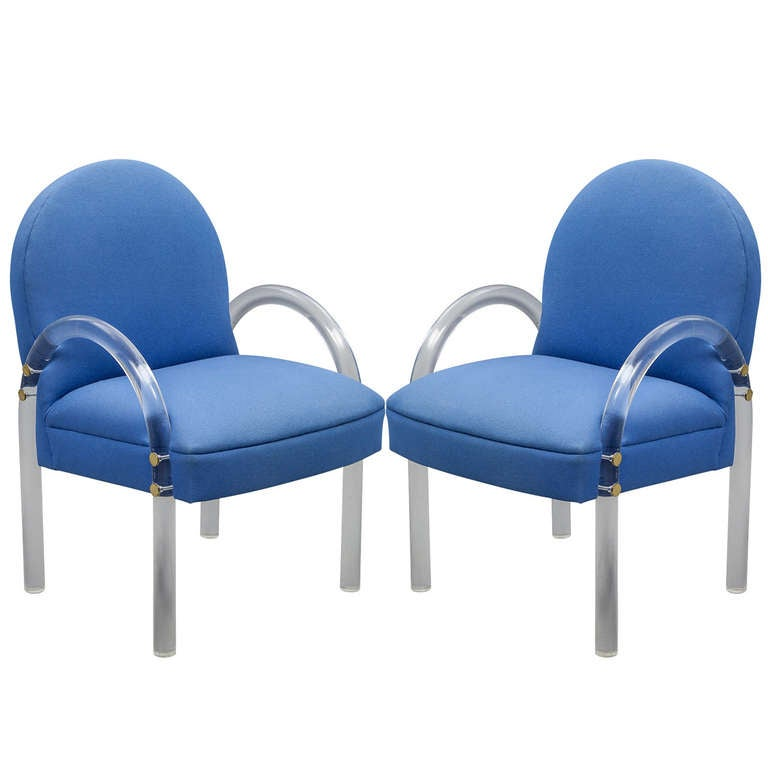 Pair of 1970's Lucite Arm Chairs by Pace Collection at 1stdibs