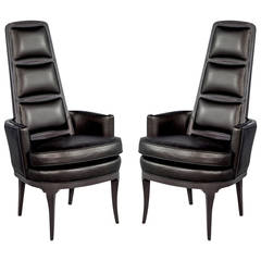 Pair of Mid Century Modern Space Age Captain's Chairs