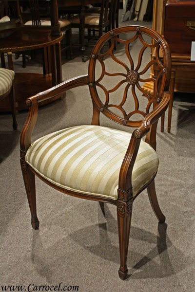 Set Of 6 Spider Back Dining Chairs Made In Spain At 1stdibs