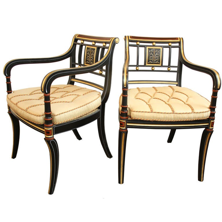 Pair Of Ej Victor Accent Living Room Arm Chairs At 1stdibs