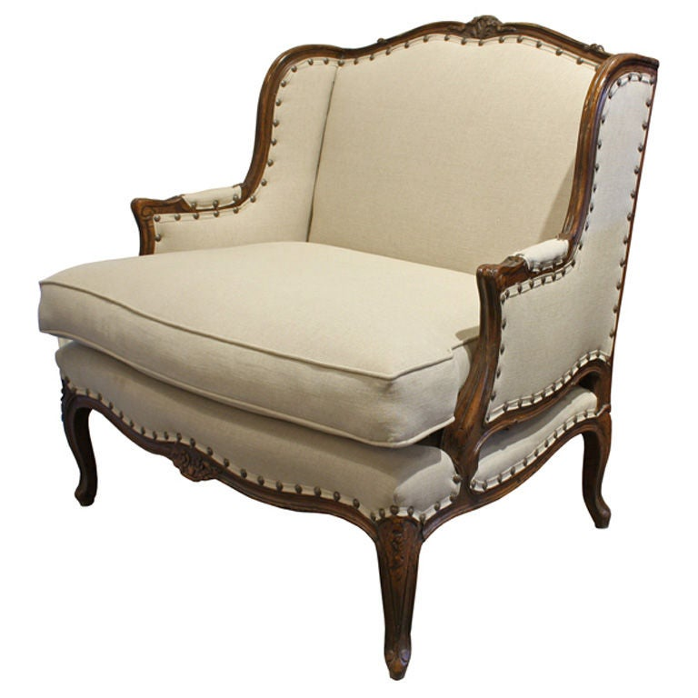 Antique French Country Bergere Living Room Chair at 1stdibs