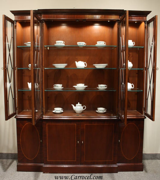 Quality Furniture Makers: Vintage Mahogany China Cabinet By Baker Furniture At 1stdibs