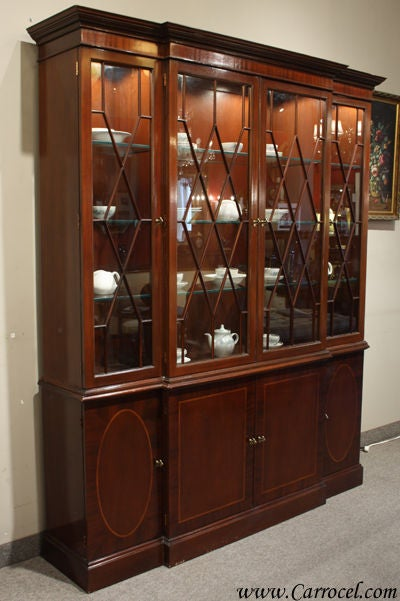 Vintage Mahogany China Cabinet By Baker Furniture At 1stdibs