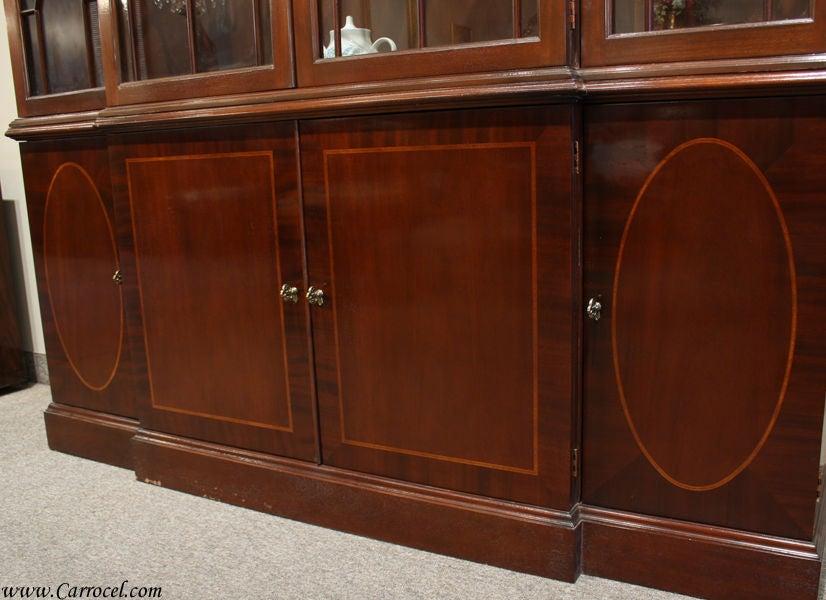 Vintage Mahogany China Cabinet By Baker Furniture At 1stdibs