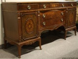 Antique Mahogany and Walnut Sideboard Buffet Berkey & Gay image 2