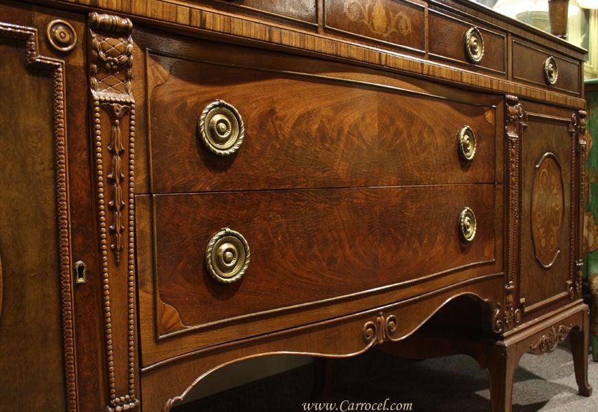 Antique Mahogany and Walnut Sideboard Buffet Berkey & Gay 4