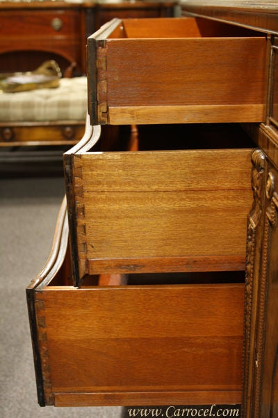 Antique Mahogany and Walnut Sideboard Buffet Berkey & Gay 5