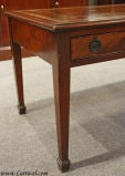 Antique Solid Mahogany Leather Top Coffee Table image 3