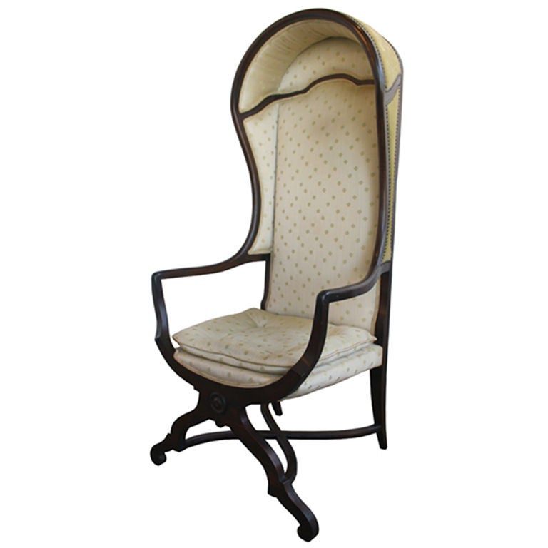 Antique English Canopy Parlor Living Room Arm Chair At 1stdibs