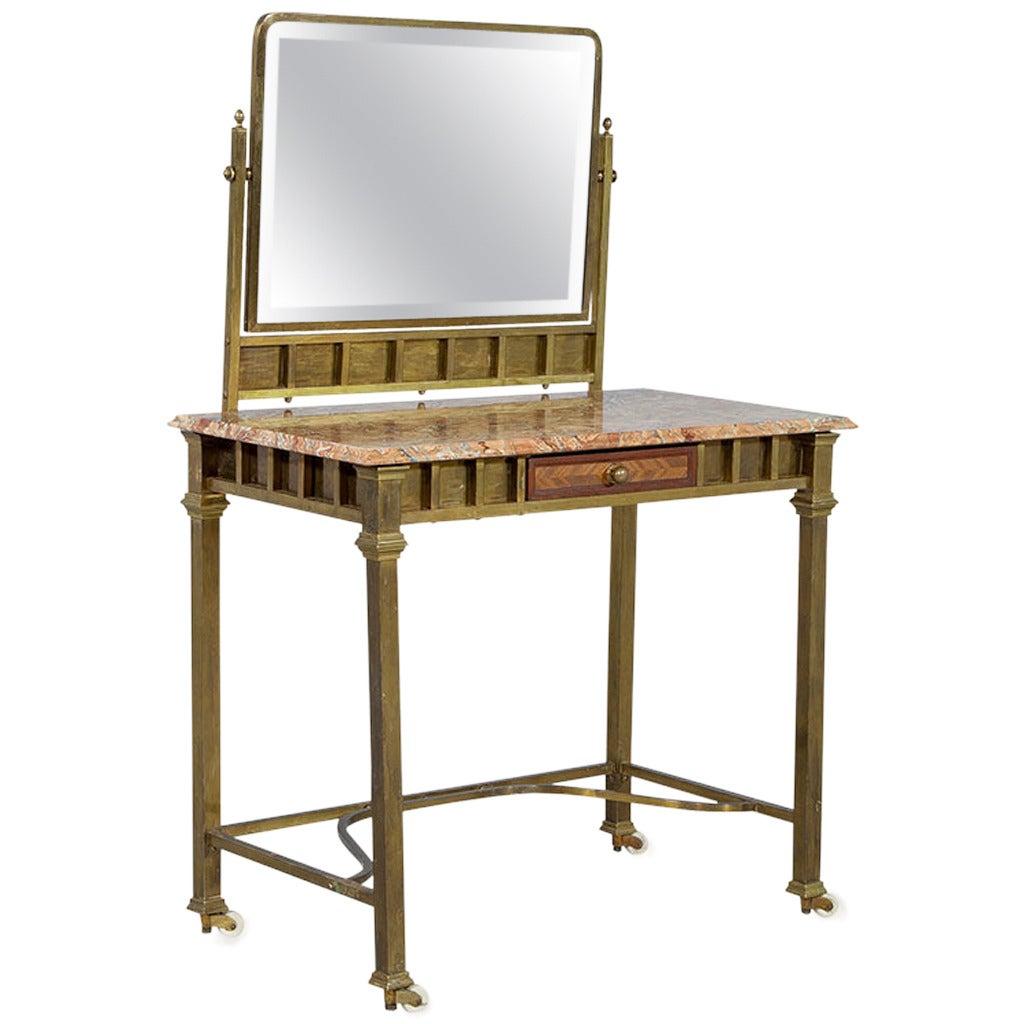 Vintage Brass Vanity At 1stdibs