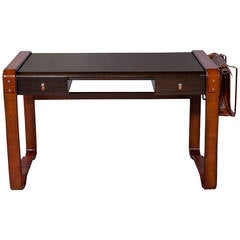 Cliff House Leather Wrapped Desk
