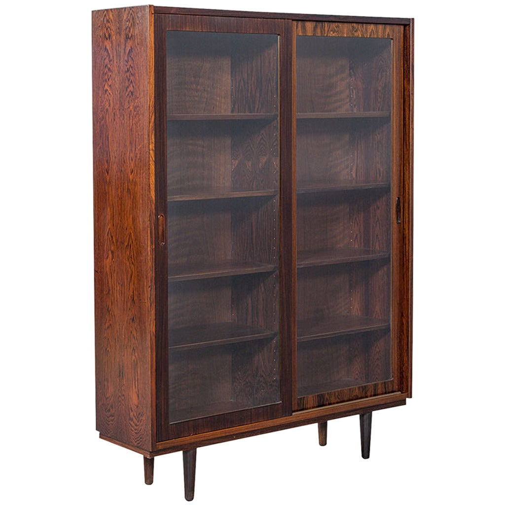 Rosewood Bookcase: Vintage Rosewood Bookcase At 1stdibs