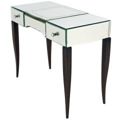 Antique Art Deco Mirrored Vanity Desk from France