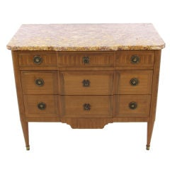 Antique Louis XVI Transitional Marble Top Commode from France