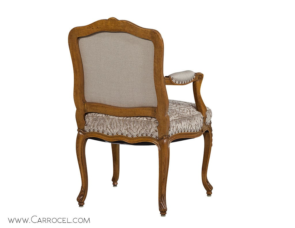 pair of louis xv walnut fauteuils at 1stdibs. Black Bedroom Furniture Sets. Home Design Ideas