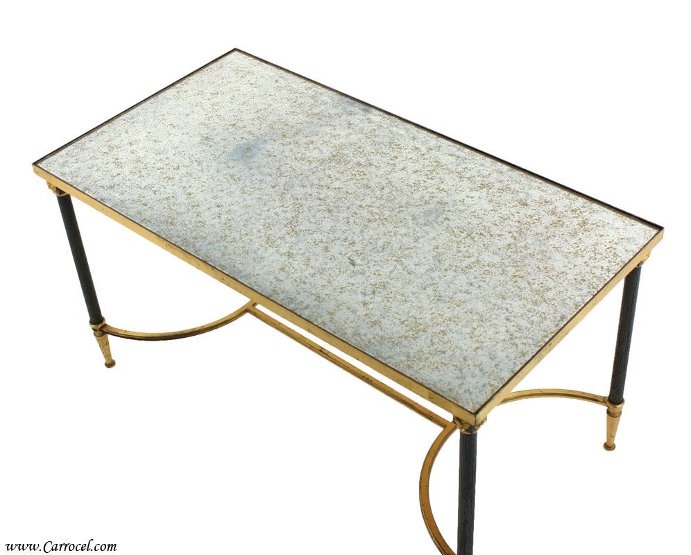 Antique Art Deco Silver Leafed Coffee Cocktail Table At 1stdibs