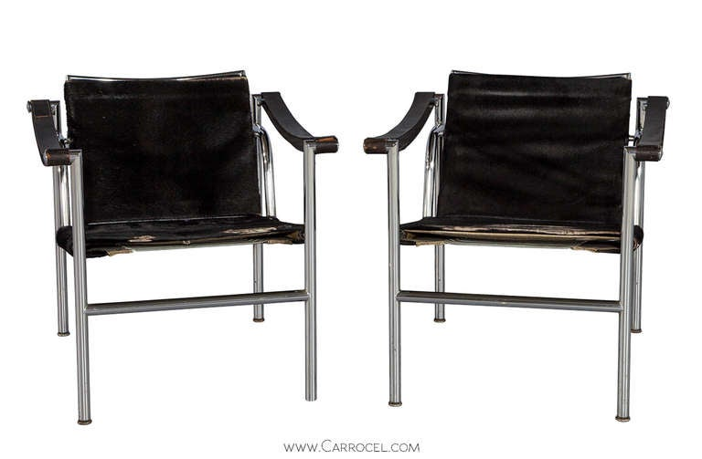 Pair of Le Corbusier LC1 Signed Armchairs Designed in 1929 for ...