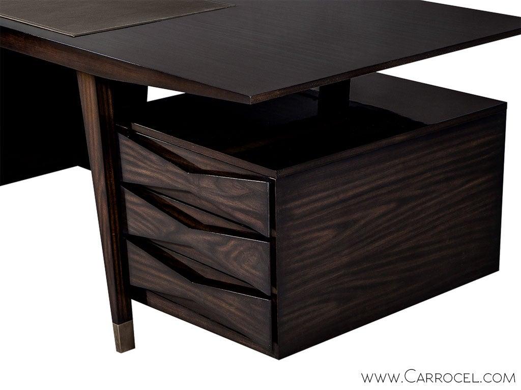 Contemporary Carrocel Custom Floating-Top Mid Century Executive Desk For Sale