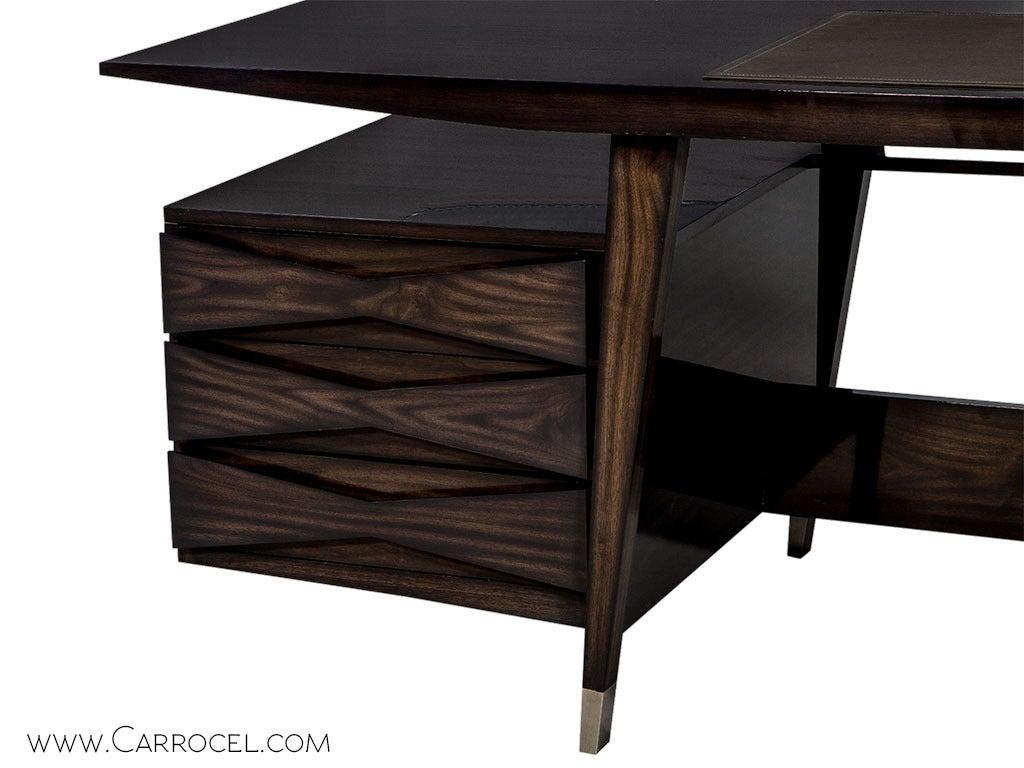 Carrocel Custom Floating-Top Mid Century Executive Desk For Sale 1