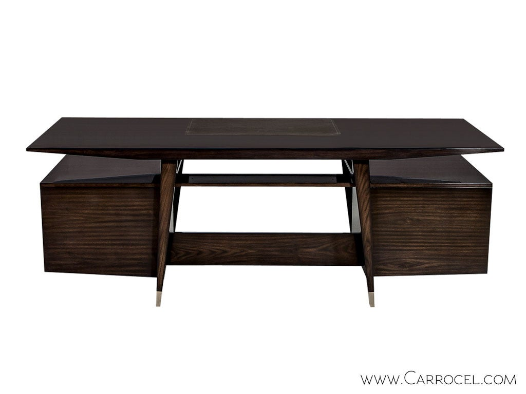 Carrocel Custom Floating-Top Mid Century Executive Desk In Excellent Condition For Sale In North York, ON