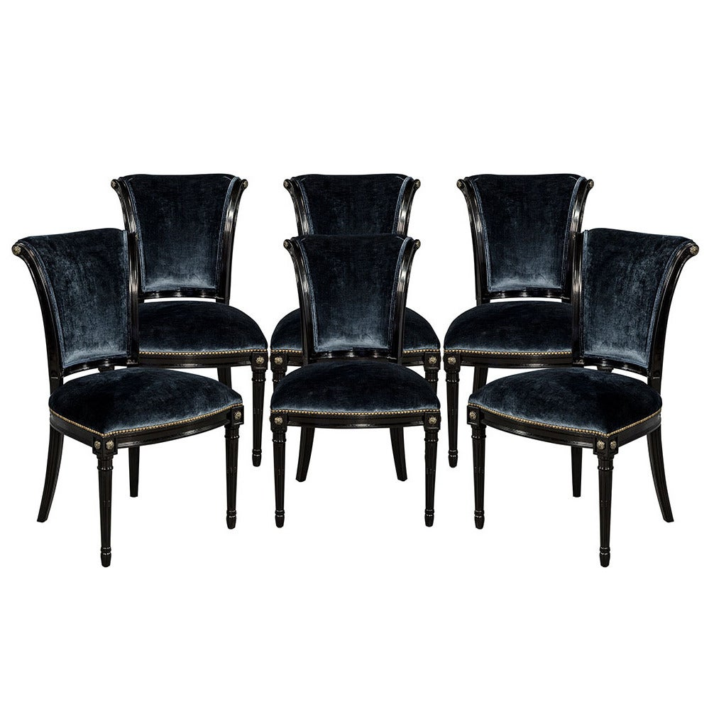 set of six marseille custom dining chairs at 1stdibs
