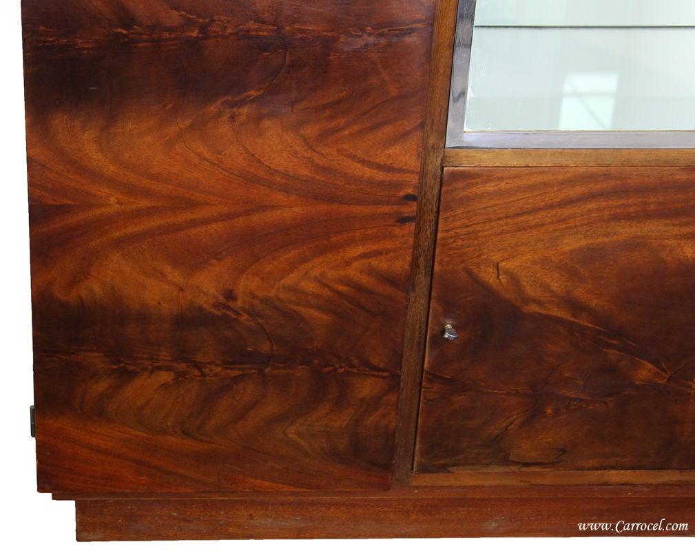 antique crotch mahogany art deco armoire cabinet from france 3 antique mahogany armoire