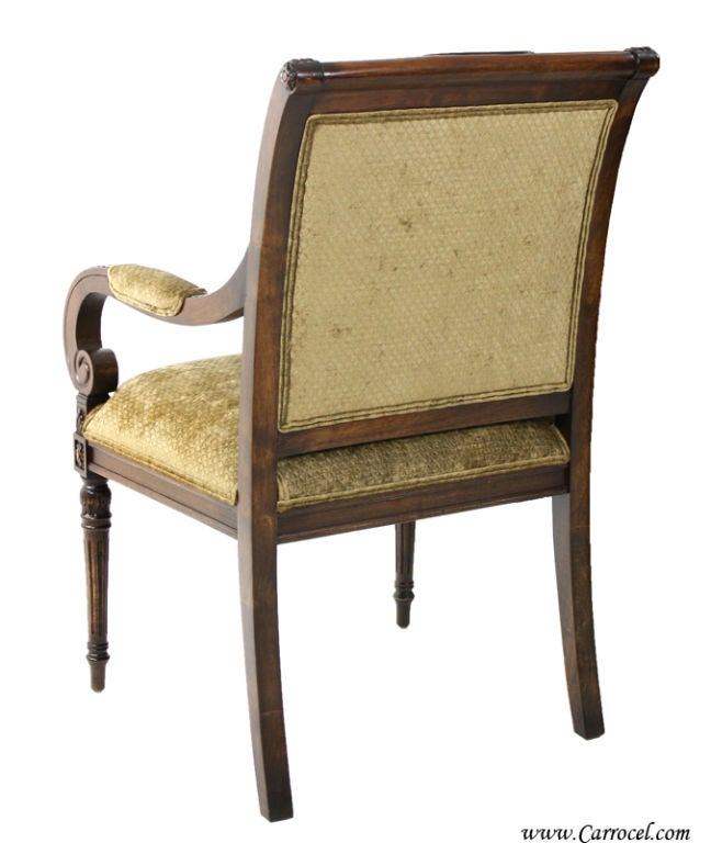 set 8 custom empire upholstered dining room chairs by ej