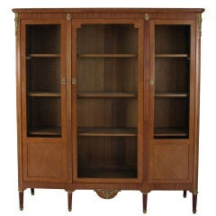 Antique French Louis XVI Bookcase Cabinet from France